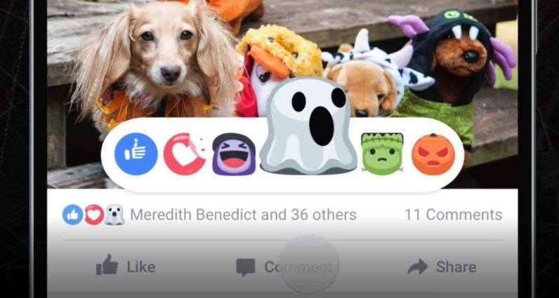facebook reactions halloween