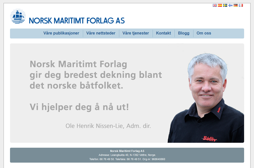 Norsk Maritimt Forlag AS strona internetowa website